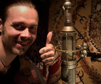 Anssi Kippo with Neumann U67 tube microphone