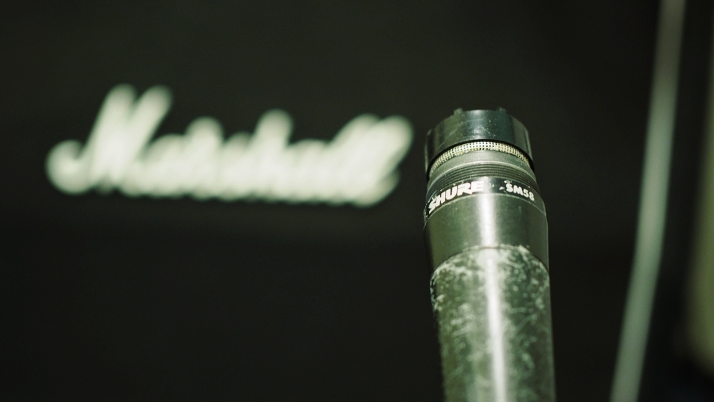 Shure SM58 with the grill removed